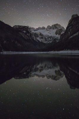 Gosausee mit Blick auf den Dachstein Gletscher