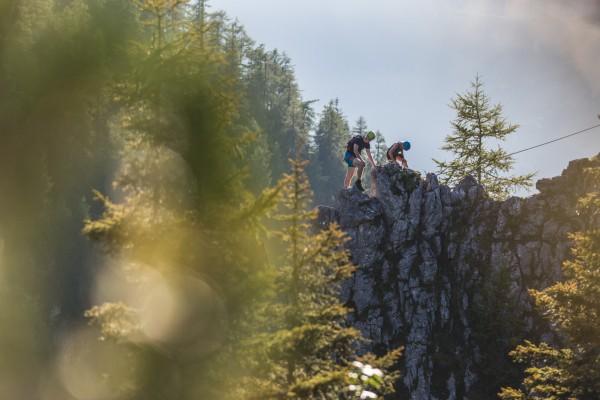Pärchen am Klettersteig