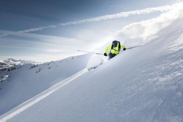 Skifahrer - Skifahren in Österreich - Sportfotografie Michael Größinger