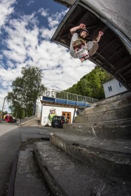 Skateboarder Stairs